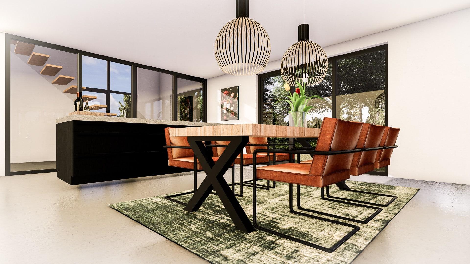 Keuken moderne kubistische woning