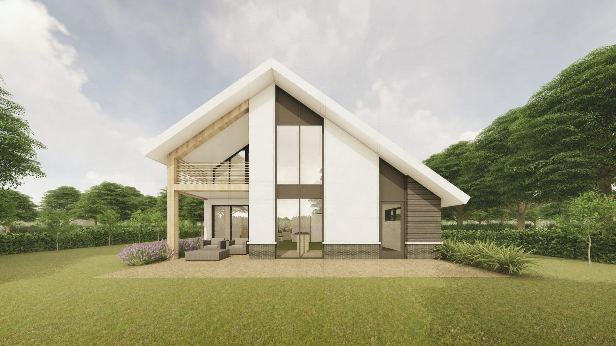 Landelijke moderne woning