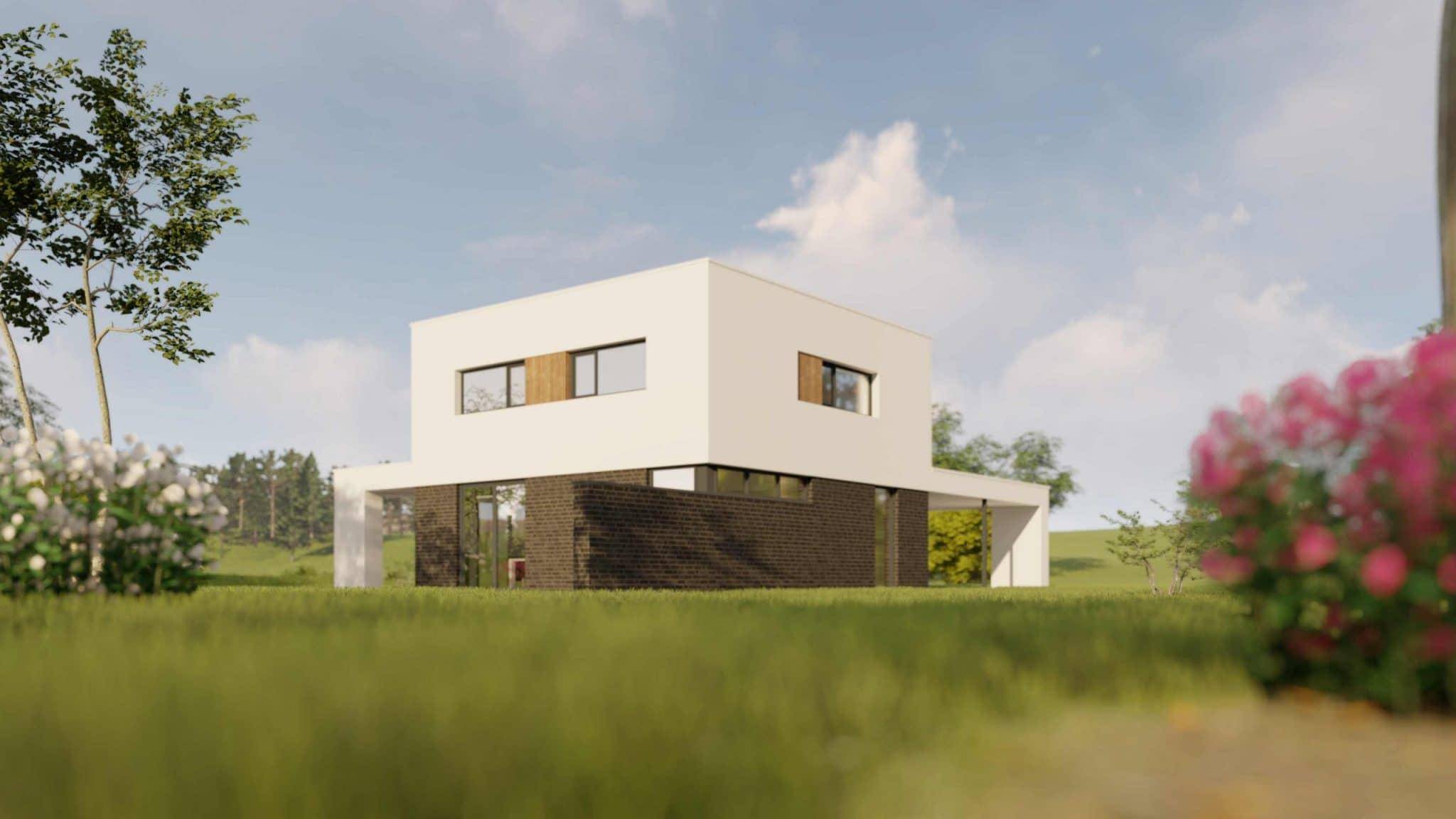 Aanzicht moderne villa