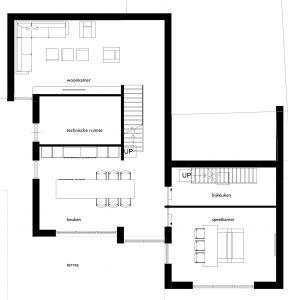 Moderne villa plattegrond begane grond