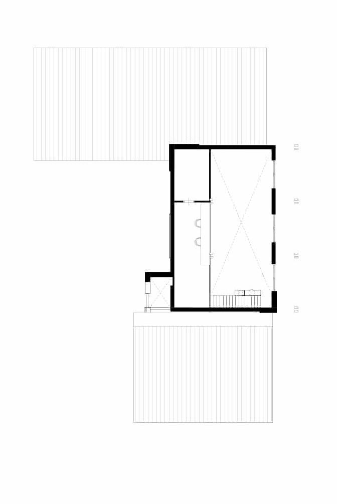 Plattegrond rustieke prairie woning eerste verdieping