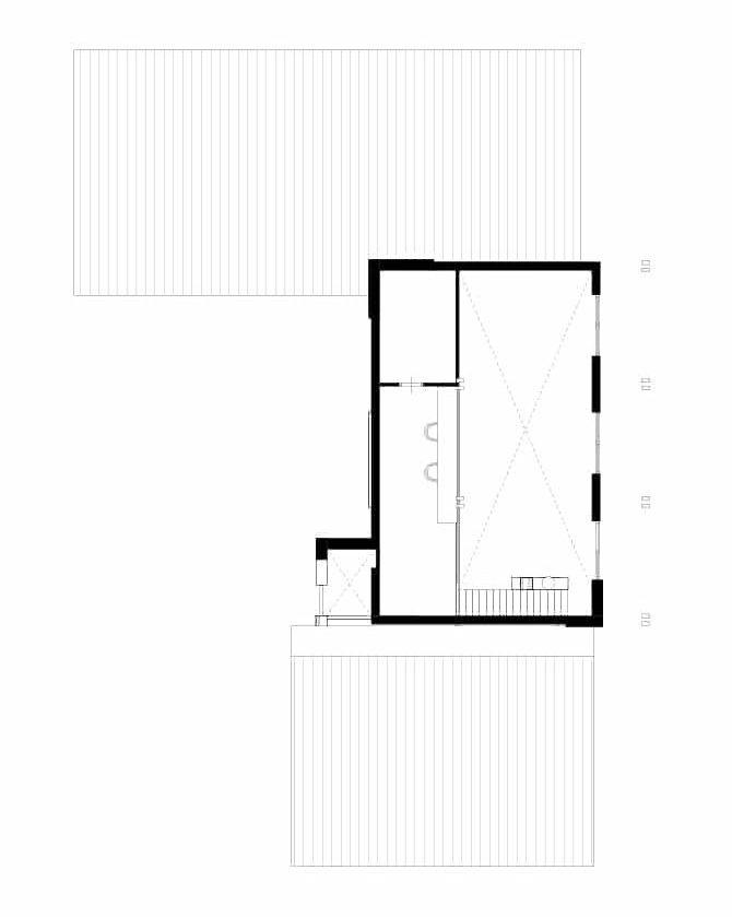 Plattegrond landhuis Amerikaanse stijl eerste verdieping