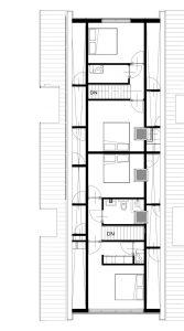 Plattegrond woning eerste verdieping