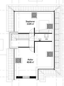 Plattegrond authentieke woning eerste verdieping