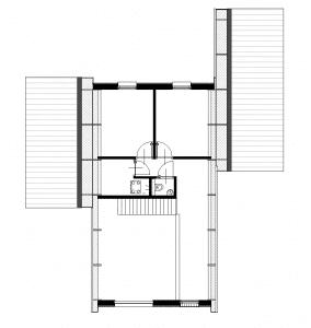 Plattegrond eigentijdse spantwoning eerste verdieping