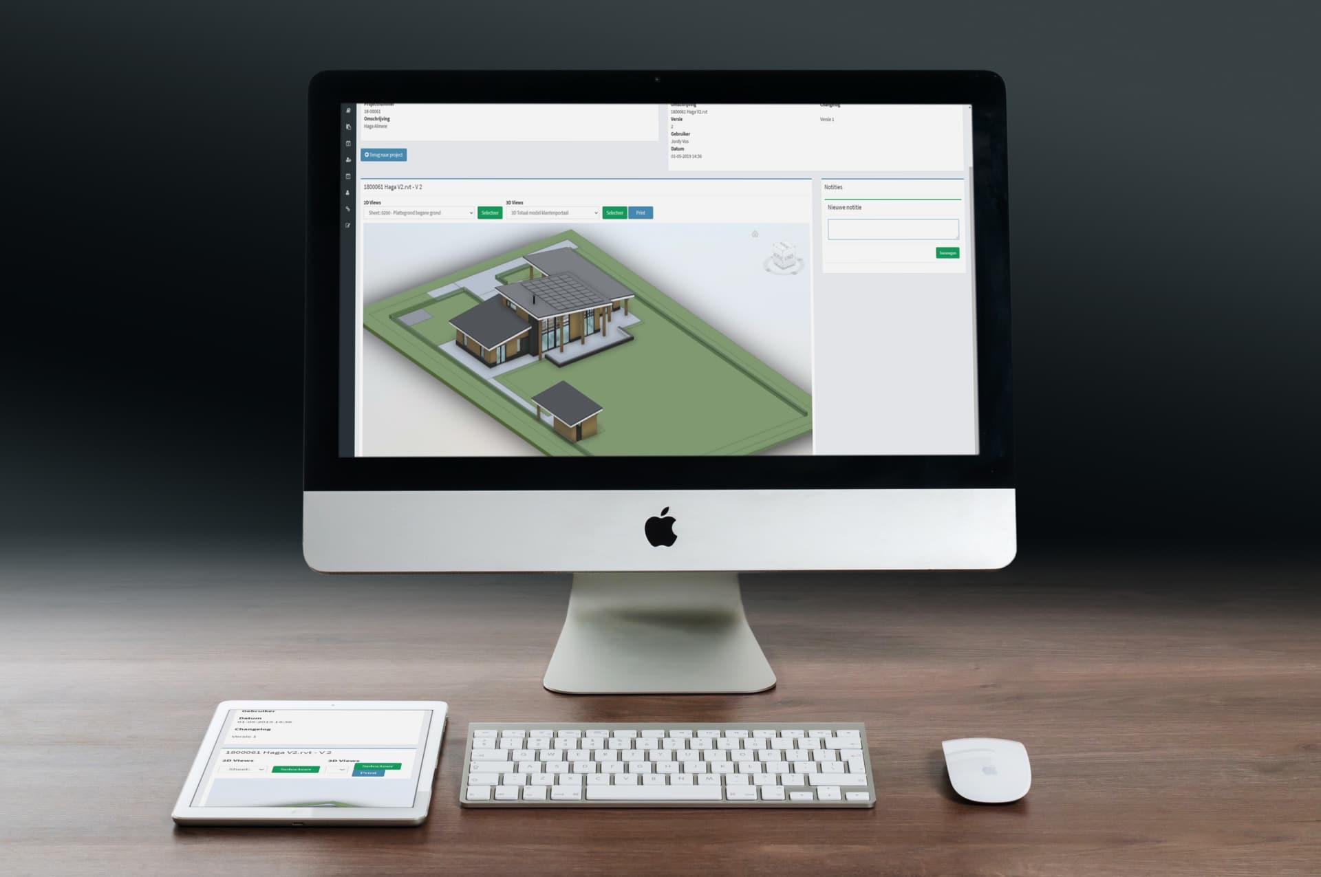 Voorbeeld van het Groenveste portaal op de computer