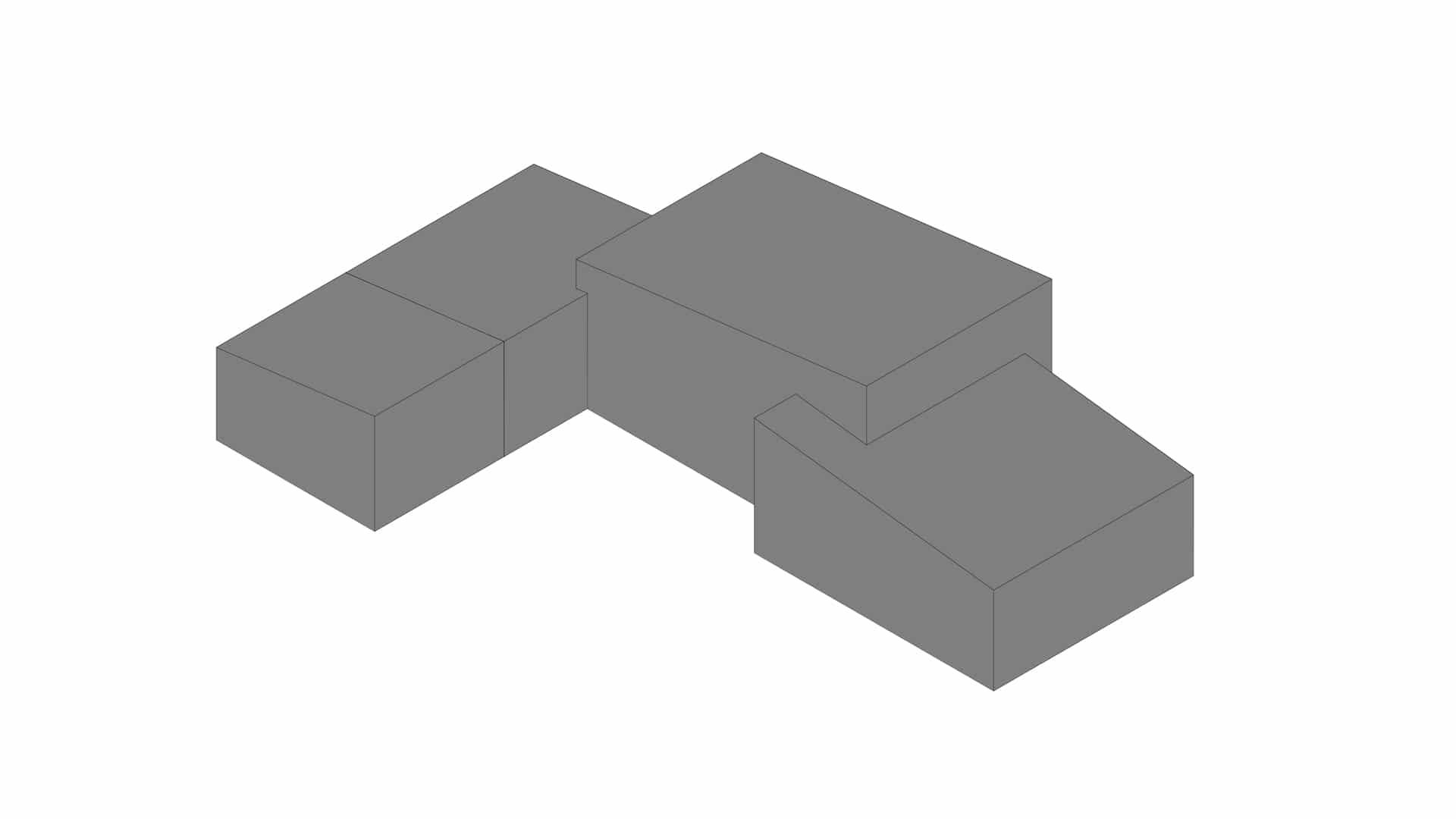 Volumemodel van een ontwerp