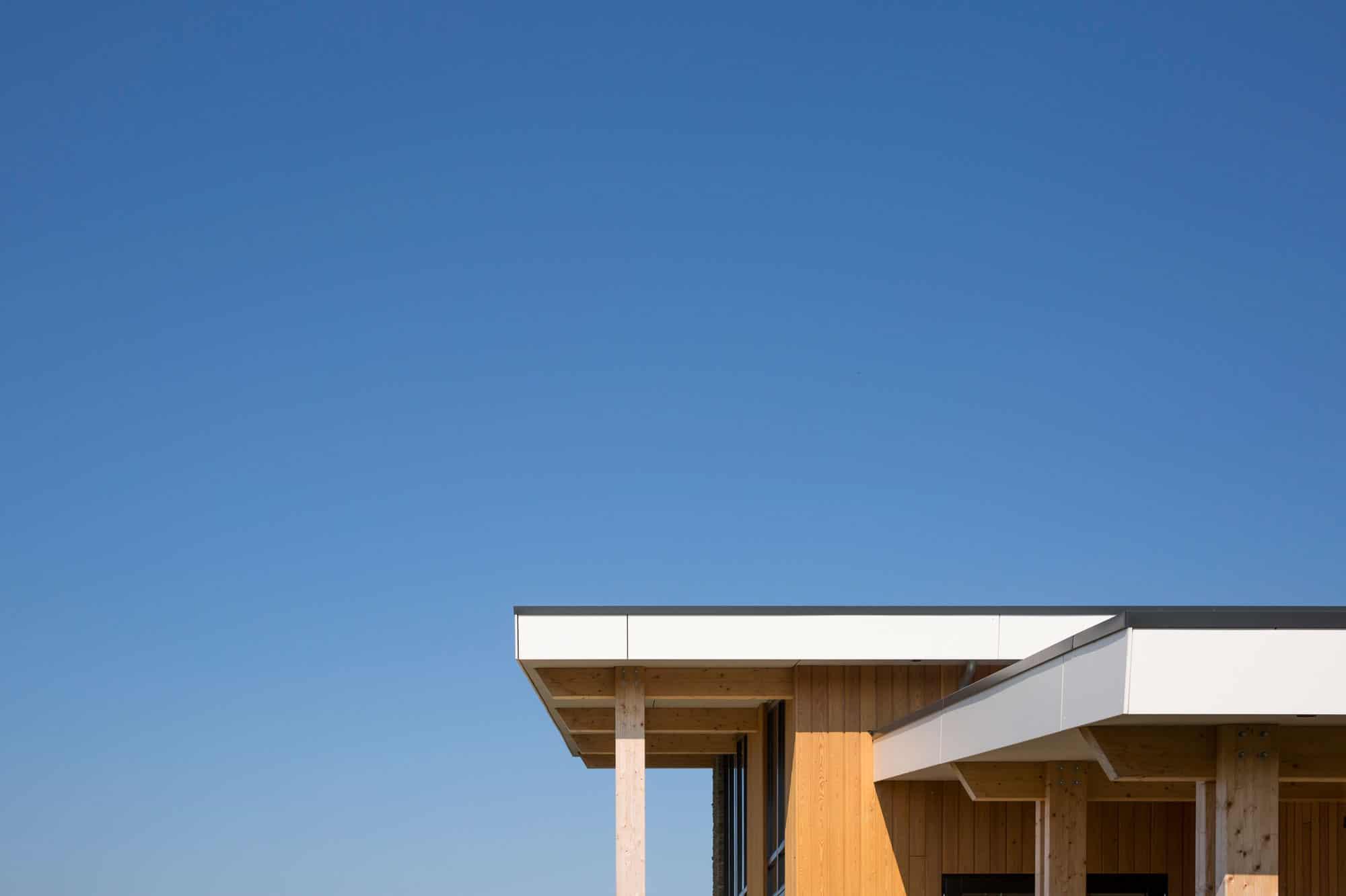 Zichtbare houtenconstructie