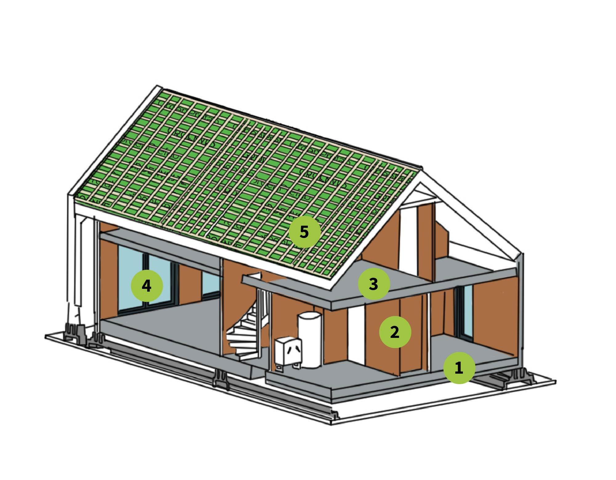 Opbouw van een woning met de keramische bouwmethode